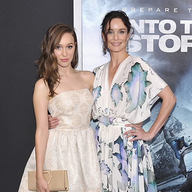 Sarah Wayne Callies and Alycia Debnam-Carey at an event for Into the Storm (2014)