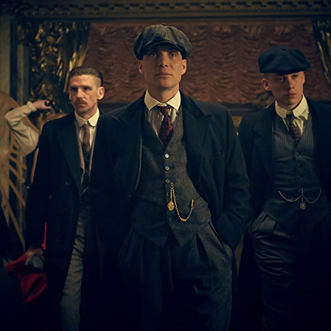 Cillian Murphy, Paul Anderson, and Joe Cole in Peaky Blinders (2013)
