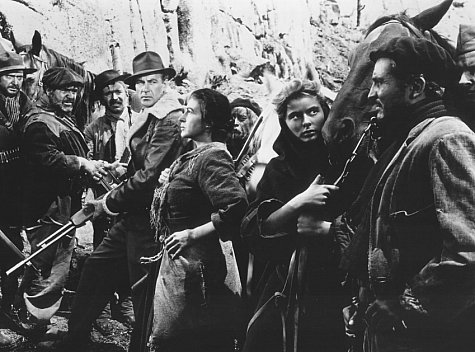 Ingrid Bergman, Gary Cooper, Arturo de Córdova, Alexander Granach, Katina Paxinou, Mikhail Rasumny, Vladimir Sokoloff, and Akim Tamiroff in For Whom the Bell Tolls (1943)