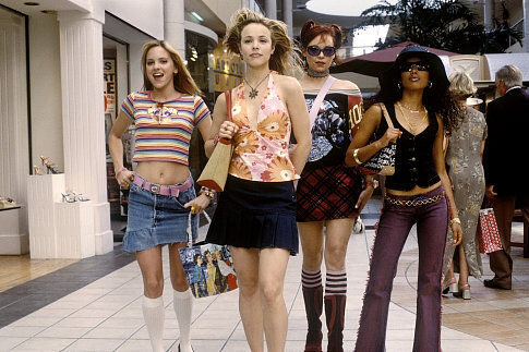 Jessica (Rachel McAdams, center left) leads her friends April (Anna Faris, left), Lulu (Alexandra Holden, center right), and Keecia (Maritza Murray, right) can be found where all hot chicks can be found: the mall.