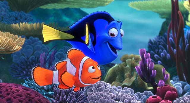 Albert Brooks and Ellen DeGeneres in Finding Nemo (2003)