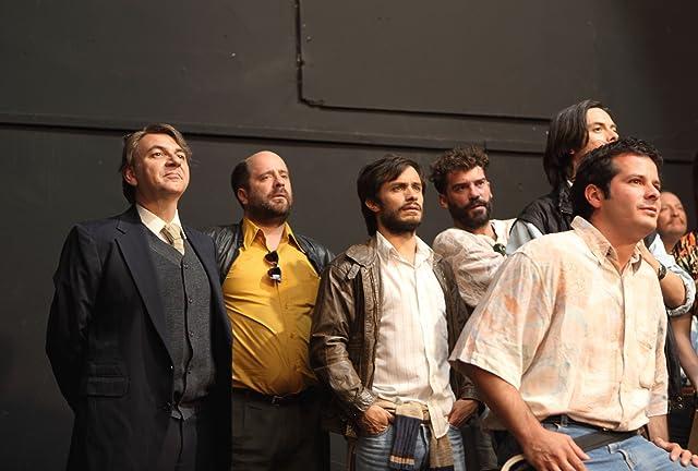 Néstor Cantillana, Gael García Bernal, Luis Gnecco, Diego Muñoz, and Marcial Tagle in No (2012)