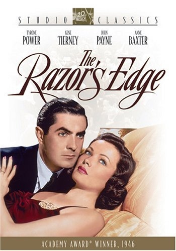 Tyrone Power and Gene Tierney in The Razor's Edge (1946)
