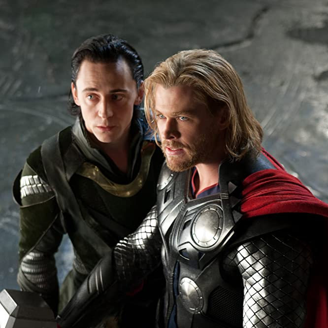 Tom Hiddleston and Chris Hemsworth in Thor (2011)