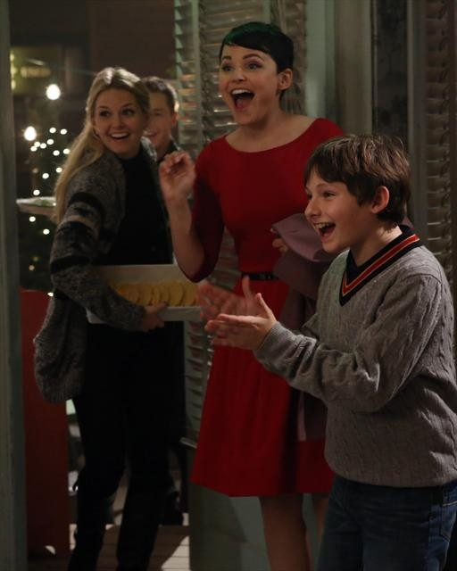 Ginnifer Goodwin, Jennifer Morrison, and Jared Gilmore in Once Upon a Time (2011)