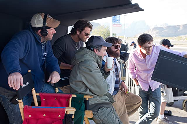 Lawrence Sher, Bradley Cooper, Zach Galifianakis, Todd Phillips, and Ed Helms in The Hangover Part III (2013)