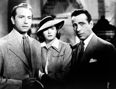 Ingrid Bergman, Humphrey Bogart, and Paul Henreid in Casablanca (1942)