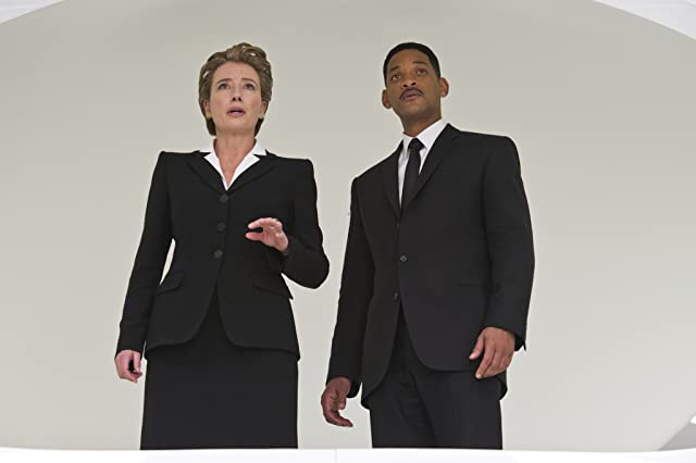 Will Smith and Emma Thompson in Men in Black 3 (2012)