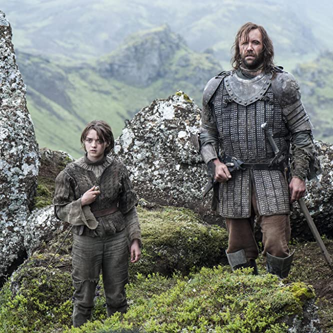 Rory McCann and Maisie Williams in Game of Thrones (2011)