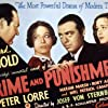 Peter Lorre, Edward Arnold, Tala Birell, and Marian Marsh in Crime and Punishment (1935)