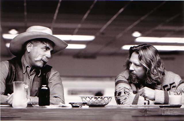 Jeff Bridges and Sam Elliott in The Big Lebowski (1998)