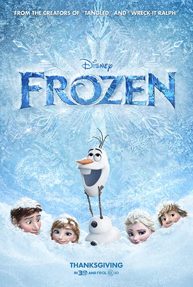 Poster Frozen (2013) Full HD Movie Download Hindi Dual Audio Free 720p