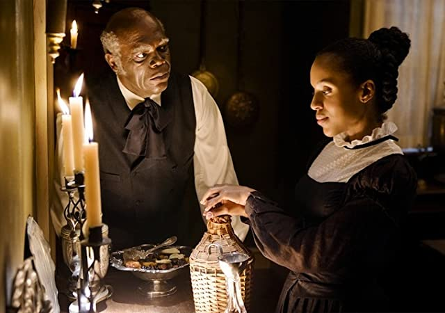 Samuel L. Jackson and Kerry Washington in Django Unchained (2012)