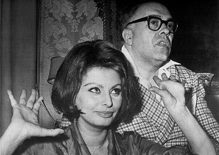 Sophia Loren and husband Carlo Ponti, c. 1969.