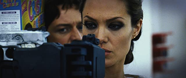 Angelina Jolie and James McAvoy in Wanted (2008)