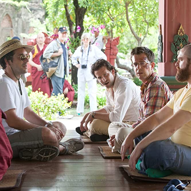 Bradley Cooper, Zach Galifianakis, Todd Phillips, and Ed Helms in The Hangover Part II (2011)