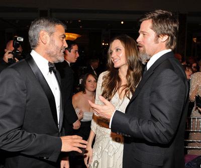 Brad Pitt, George Clooney, and Angelina Jolie
