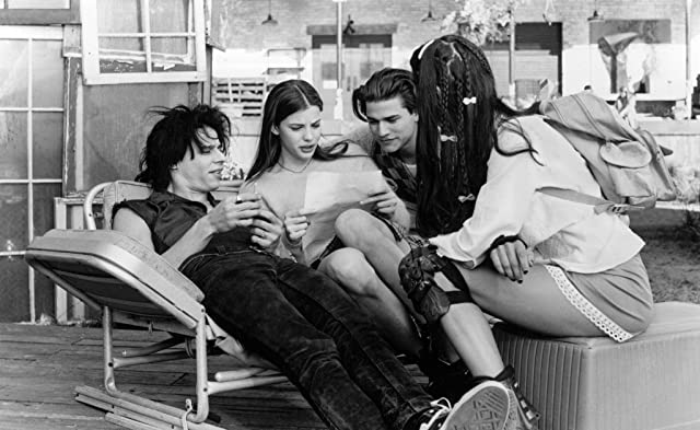 Liv Tyler, Coyote Shivers, and Johnny Whitworth in Empire Records (1995)