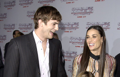 Demi Moore and Ashton Kutcher at an event for Charlie's Angels: Full Throttle (2003)