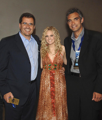 Peter Liguori, Peter Chernin, and Carrie Underwood at American Idol (2002)