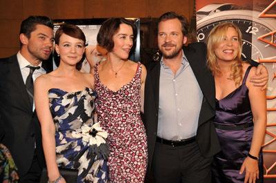 Peter Sarsgaard, Lone Scherfig, Olivia Williams, Dominic Cooper, and Carey Mulligan at An Education (2009)