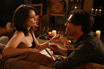 Tina Fey and Jon Hamm in 30 Rock (2006)