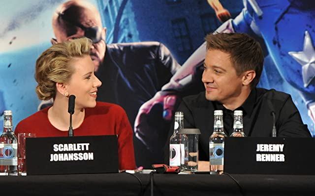Scarlett Johansson and Jeremy Renner at The Avengers (2012)