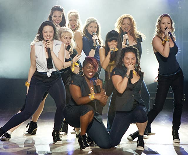 Anna Kendrick, Brittany Snow, Rebel Wilson, Anna Camp, Hana Mae Lee, Alexis Knapp, Ester Dean, Wanetah Walmsley, Kelley Jakle, and Shelley Regner in Pitch Perfect (2012)