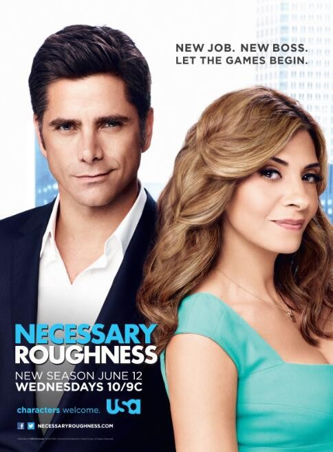 John Stamos and Callie Thorne in Necessary Roughness (2011)