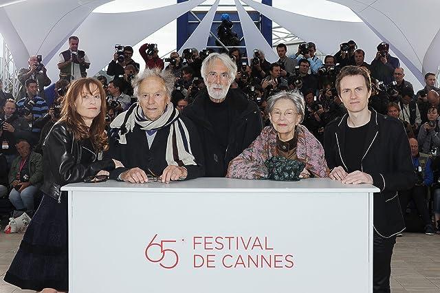 Isabelle Huppert, Jean-Louis Trintignant, Michael Haneke, Emmanuelle Riva, and Alexandre Tharaud at Amour (2012)