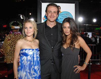 Mila Kunis, Kristen Bell, and Jason Segel at Forgetting Sarah Marshall (2008)