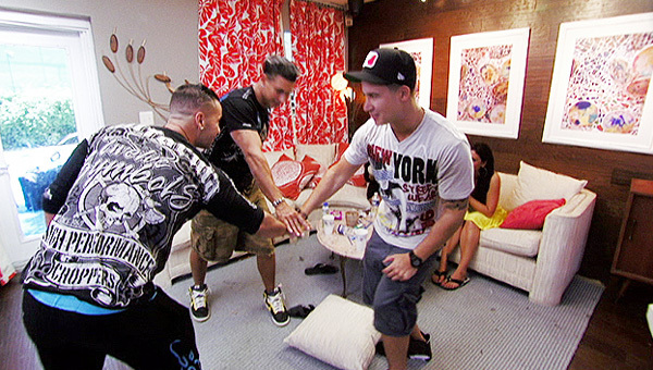 Paul 'Pauly D' DelVecchio and Mike 'The Situation' Sorrentino in Jersey Shore (2009)