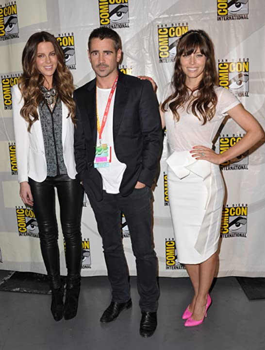 Kate Beckinsale, Jessica Biel, and Colin Farrell at an event for Total Recall (2012)