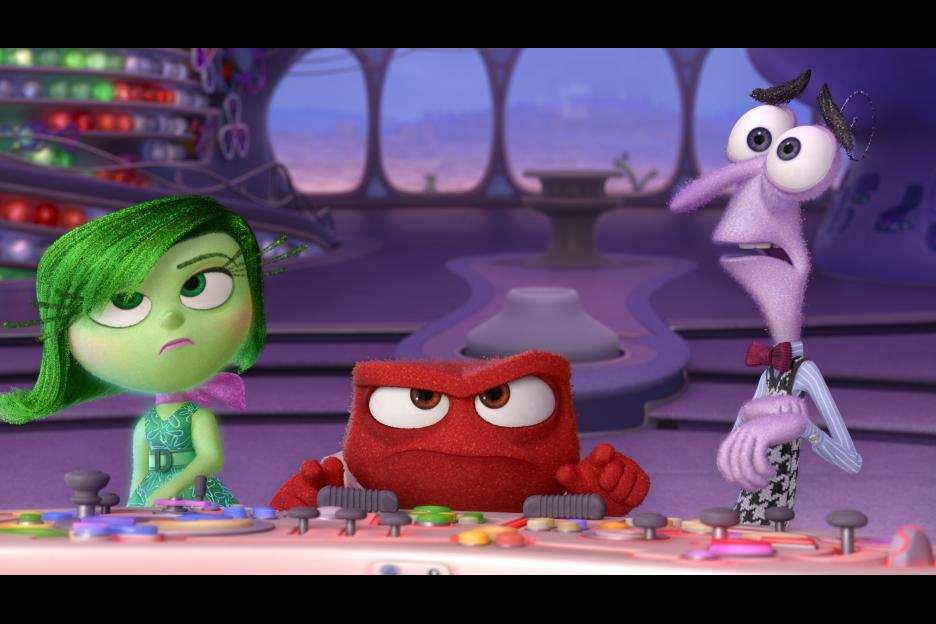 Lewis Black, Bill Hader, and Mindy Kaling in Inside Out (2015)