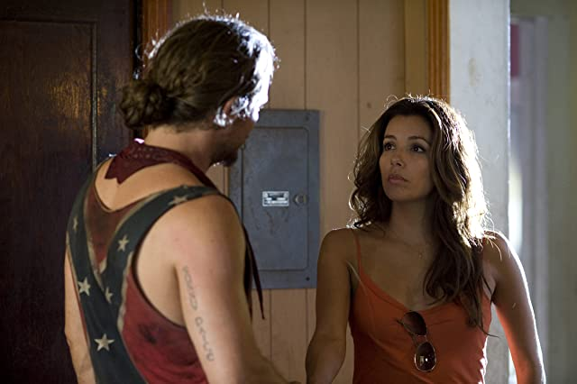 Clayne Crawford and Eva Longoria in The Baytown Outlaws (2012)