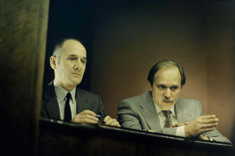 Ulrich Mühe and Ulrich Tukur in The Lives of Others (2006)