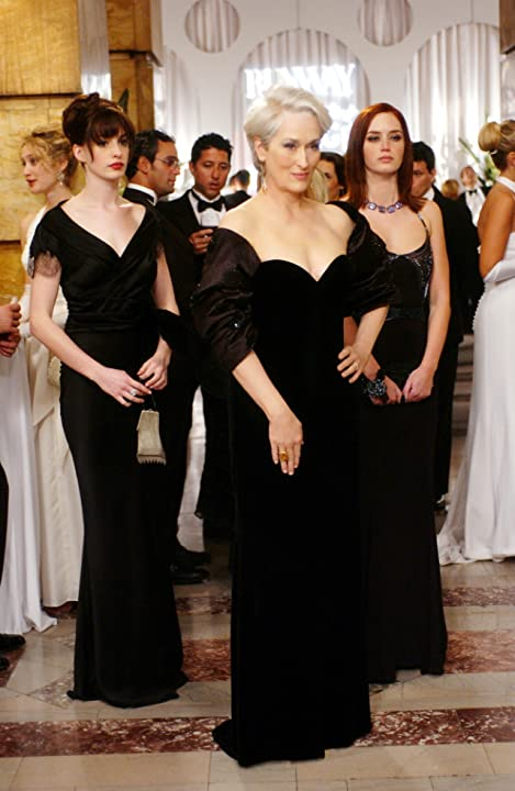 Meryl Streep, Anne Hathaway, and Emily Blunt in The Devil Wears Prada (2006)