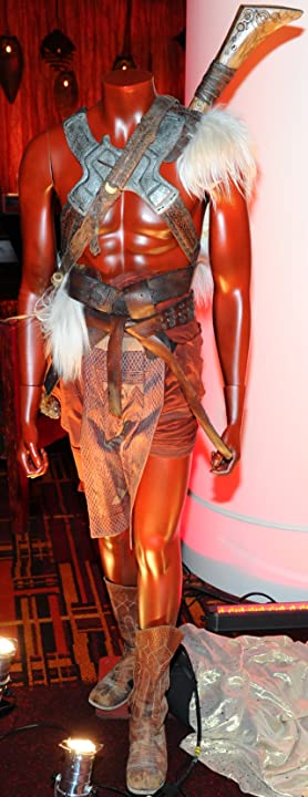 One of John Carter's costumes from John Carter, on display at the El Capitan Theatre in Hollywood