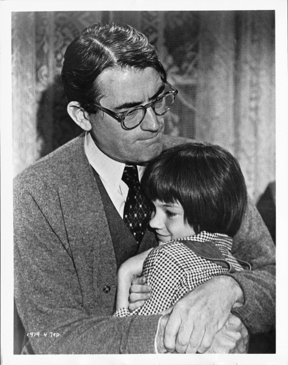Still of Gregory Peck and Mary Badham in To Kill a Mockingbird