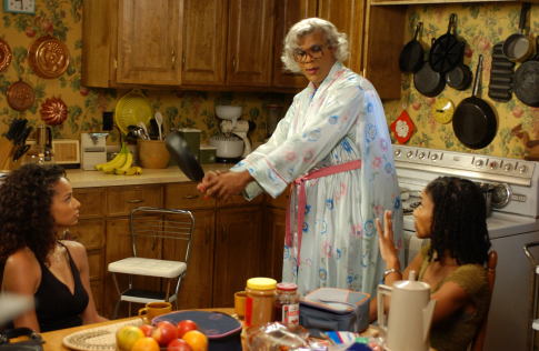Lisa Arrindell, Tyler Perry, and Rochelle Aytes in Madea's Family Reunion (2006)