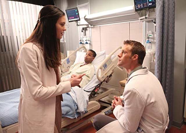 Michael B. Jordan, Jesse Spencer, and Odette Annable in House M.D. (2004)