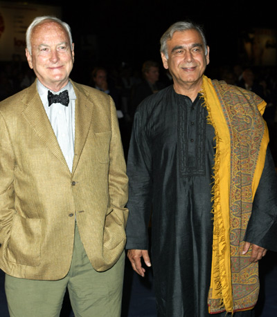 James Ivory and Ismail Merchant at an event for Le divorce (2003)