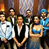 Abhishek Bachchan, Shah Rukh Khan, Boman Irani, Sonu Sood, Deepika Padukone, and Vivaan Shah in Happy New Year (2014)