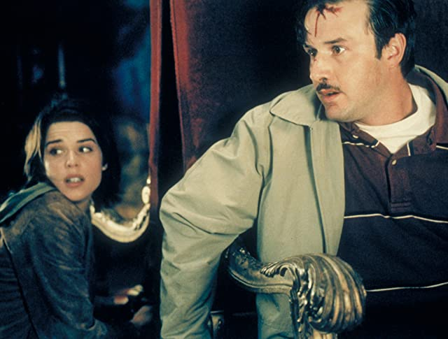 Neve Campbell and David Arquette in Scream 3 (2000)