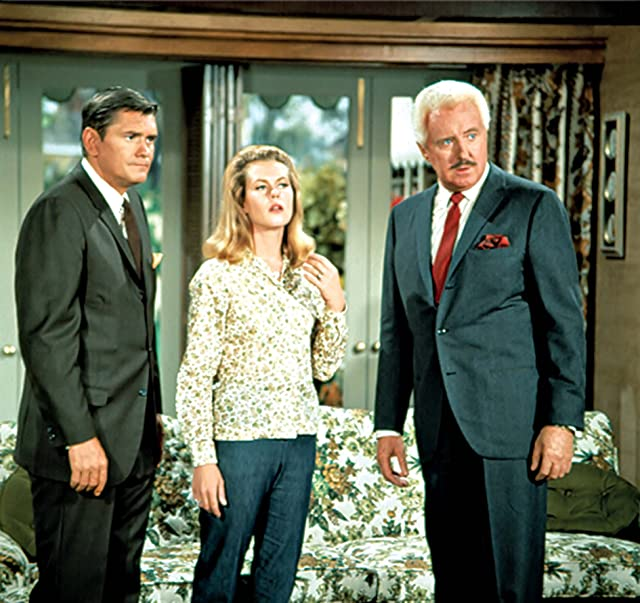 Elizabeth Montgomery, David White, and Dick York in Bewitched (1964)