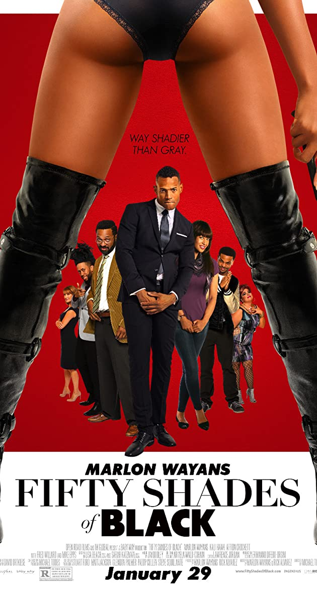 Image result for 50 shades of black movie poster