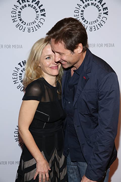 Gillian Anderson and David Duchovny at an event for The X-Files (1993)