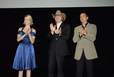 Barry Pepper, January Jones, and Dwight Yoakam at Three Burials (2005)
