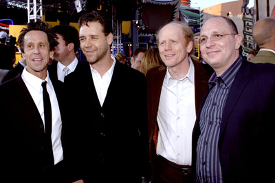 Russell Crowe, Ron Howard, Brian Grazer, and Akiva Goldsman at Cinderella Man (2005)