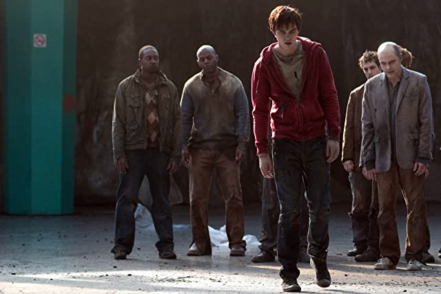 Nicholas Hoult and Rob Corddry in Warm Bodies (2013)